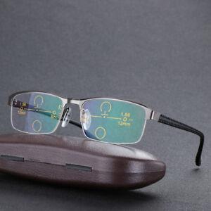 9cb8a9bcd81c Image is loading Photochromic-Reading-Glasses-Multi-Focus-Transition- Progressive-Sunglasses