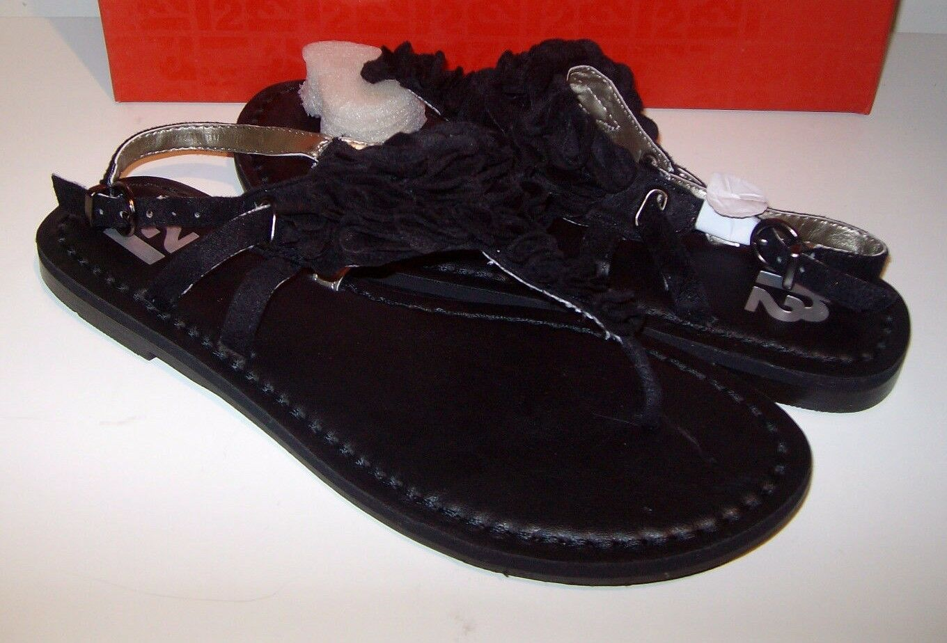 R2 FootWear Size 6 Black Shoes Sandals Thongs New Womens Shoes Black c6fd10