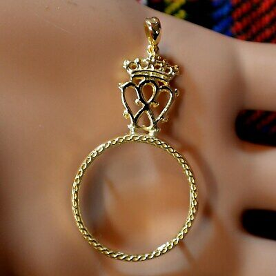 9ct gold new scottish luckenbooth pendant