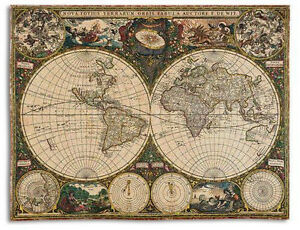 70x54 old world map globe tapestry afghan throw blanket ebay image is loading 70x54 old world map globe tapestry afghan throw gumiabroncs Gallery
