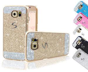 Handy-Huelle-Schutz-Strass-Steine-Glitzer-Samsung-Galaxy-Note-3-4-Tasche-Cover