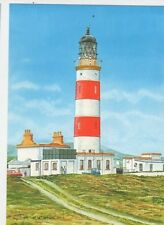 Point Of Ayre Lighthouse IOM by P Chesterton Modern Postcard 340a ^