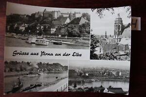 Carte Postale Vue Carte Saxe Passe Le Bonjour De Pirna Sur L'elbe-afficher Le Titre D'origine