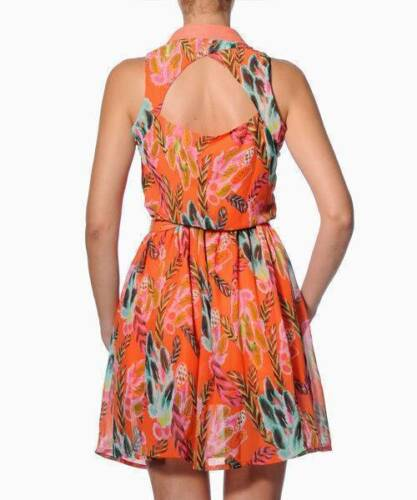 Smash Barcelona S-XXL UK 10-18 RRP ?52.50 Sorocaba Dress Orange Tropical Floral