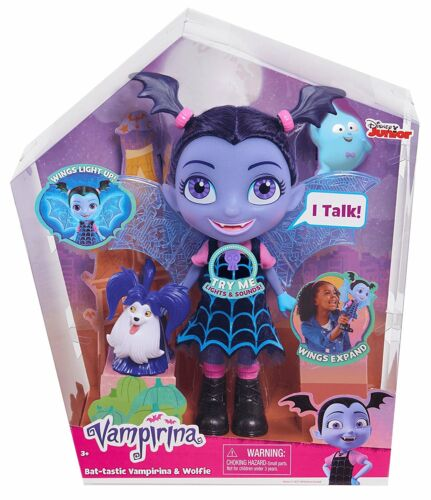 Vampirina BatTastic Talking vampirina Doll and Wolfie Friend Figure