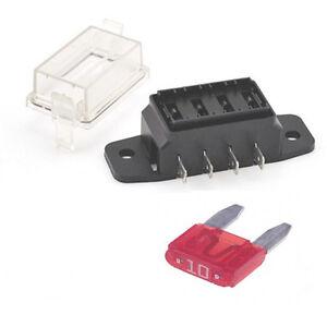 4 way mini blade fuse box holder 12v 24v universal ebay rh ebay co uk