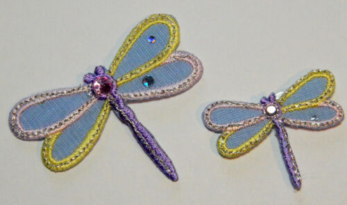Dragonfly//Dragonflies Embroidered Motif Iron On Patch  clothes garments