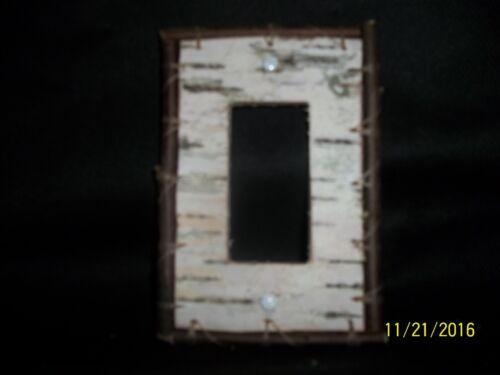 Birch Bark Electrical Rocker//Slider GFI Switch Plate