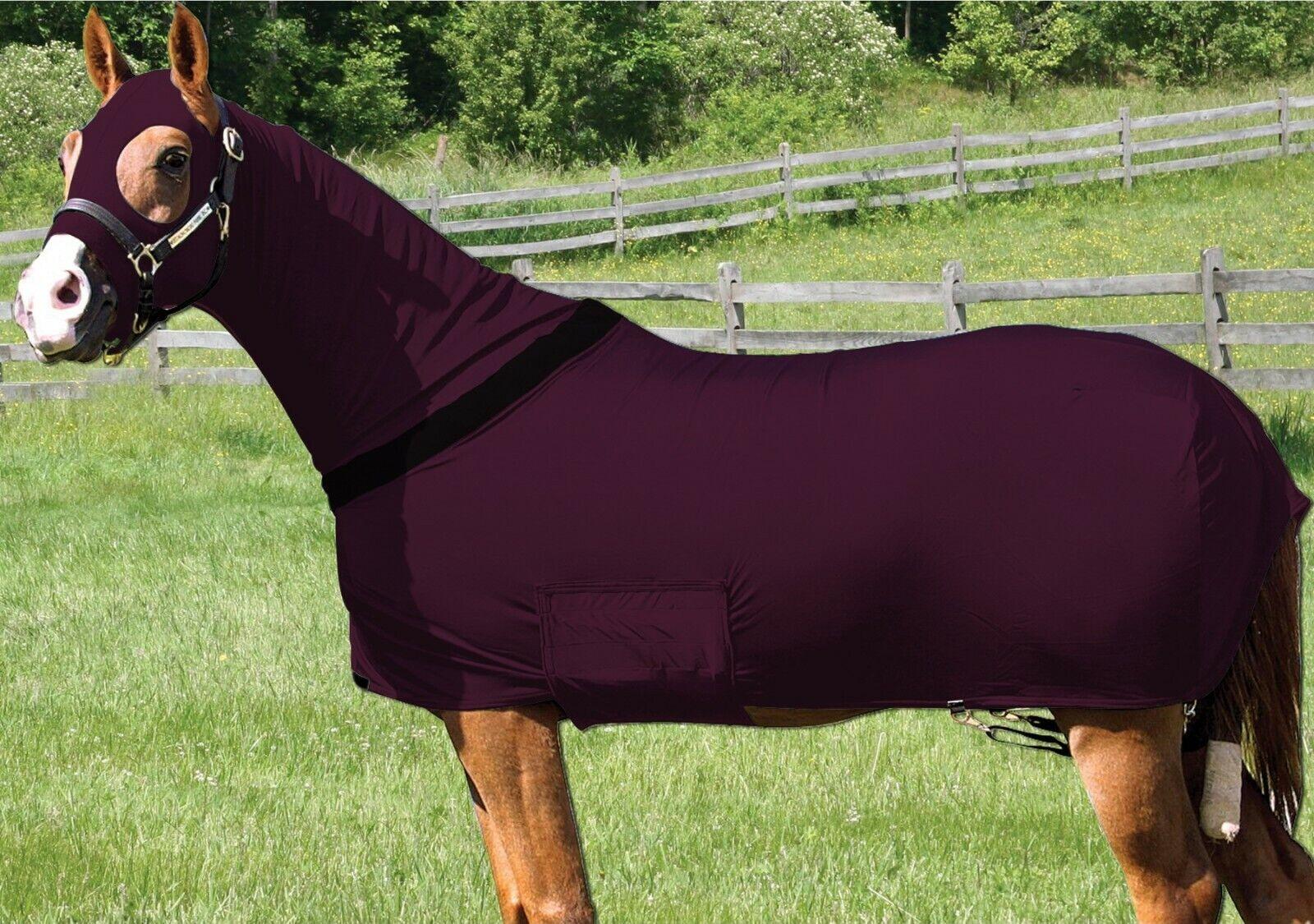 Cavallo Stretch Full Body Tappeto Cofano full body con zip in X-Large Borgogna
