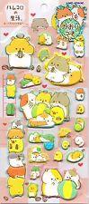 Cute Kawaii Puffy Hamster Stickers Japanese Stationery Hamukoro Foam Diary Craft