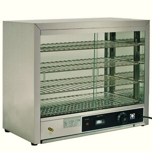 omega electric counter top heated display cabinet / pie warmer