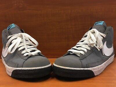 finest selection 5628b 3f4f8 NIKE Blazer High Dark Grey/White/Blue/Black Style# 316664-014 Men's Size 14  | eBay