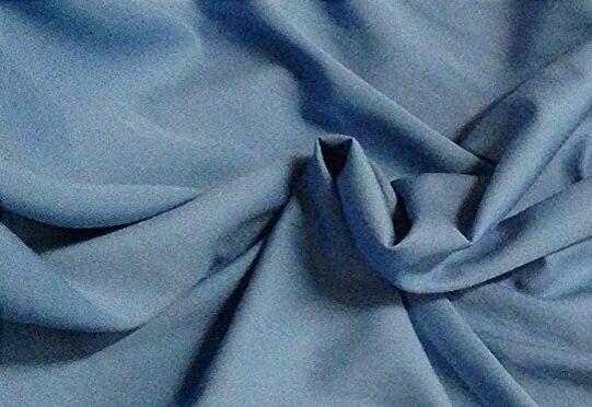"BLUE BURLINGTON WOOL FABRIC  60"" WIDE  1 YARD"