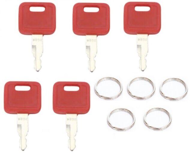 Ignition key 5 keys for John Deere, Fiat, Case, New Holland, Hitachi H800R