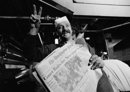 Art Print POSTER Washington Post Headline After Winning Court Case