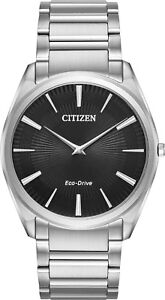 Citizen-AR3070-55E-Men-039-s-Eco-Drive-Stiletto-Ultra-Thin-Stainless-Steel-Watch