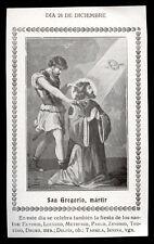"""santino-holy card""""S.GREGORIO M. DI SPOLETO"""