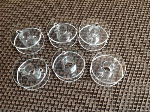 6 x plastique transparent canettes-machine à coudre bobine universel adapte plupart modèles