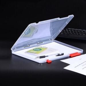1x Document Case File Paper Folder A4 Size Clear Plastic