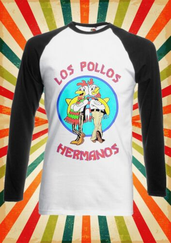 Los Pollos Hermanos Breaking Bad Men Women Long Short Sleeve Baseball T Shirt 6