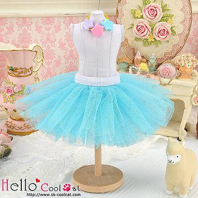 ☆╮Cool Cat╭☆152.【PC-09】Blythe/Pullip Tulle Ball Mini Skirt # Sky Blue