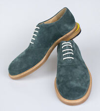 New BAND OF OUTSIDERS Timber Green Suede Saddle Shoes Size 9 $595