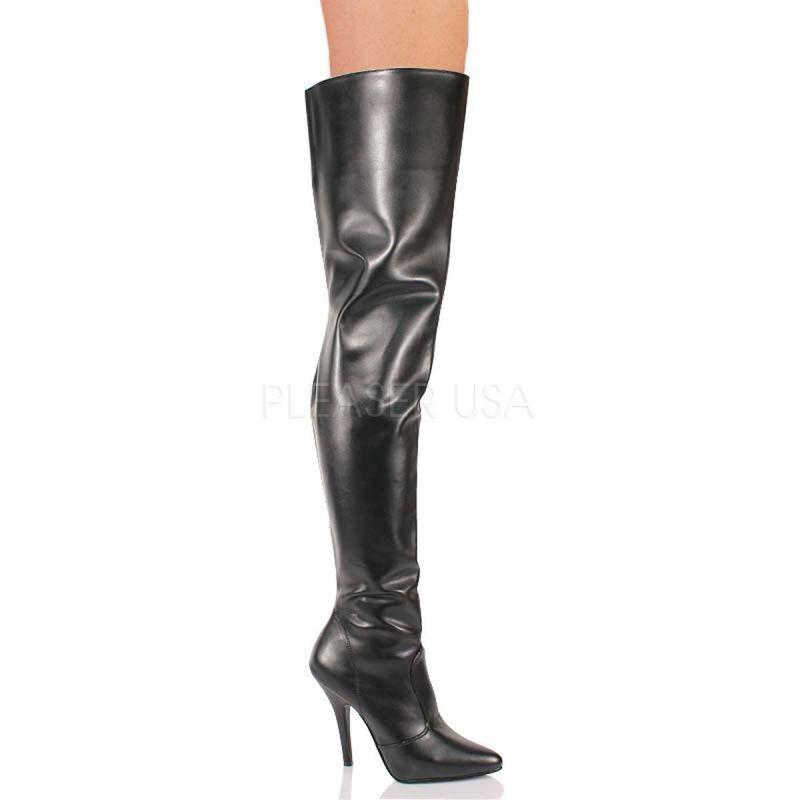 PLEASER SEDUCE-3010 Stiefel Stiefel Stiefel Overknee Schwarz Tabledance Poledance Gogo Sexy Hot  Marke