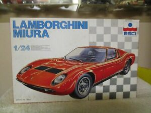 Esci 1 24scale Model Car Kit Lamborghini Miura 3058 Ebay