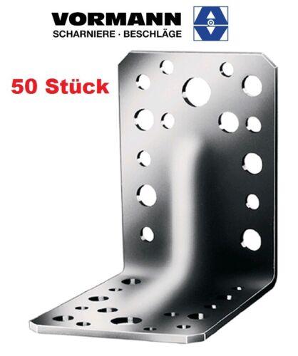 Schwerlastwinkel 90 x 90 x 2,5 mm 50 Stück Vormann Verstellwinkel mit Sicke