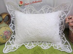 Victorian-White-Battenburg-Lace-Pillow-Sham-Cushion-Case-Cotton-Wedding-RARE
