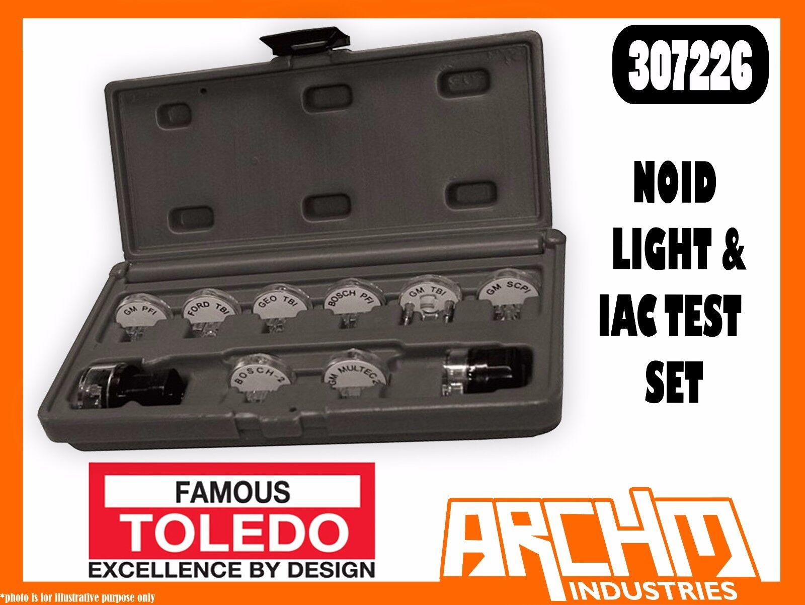 TOLEDO 307226 - NOID LIGHT & IAC TEST SET - ELECTRONIC FUEL INJECTION IDLE AIR