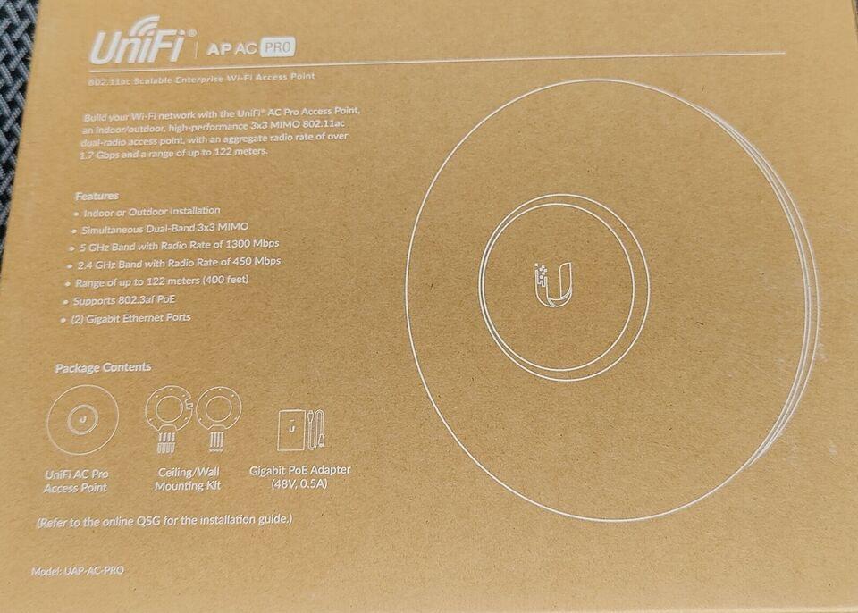 Access point, wireless, Ubiquiti UniFi AC Pro
