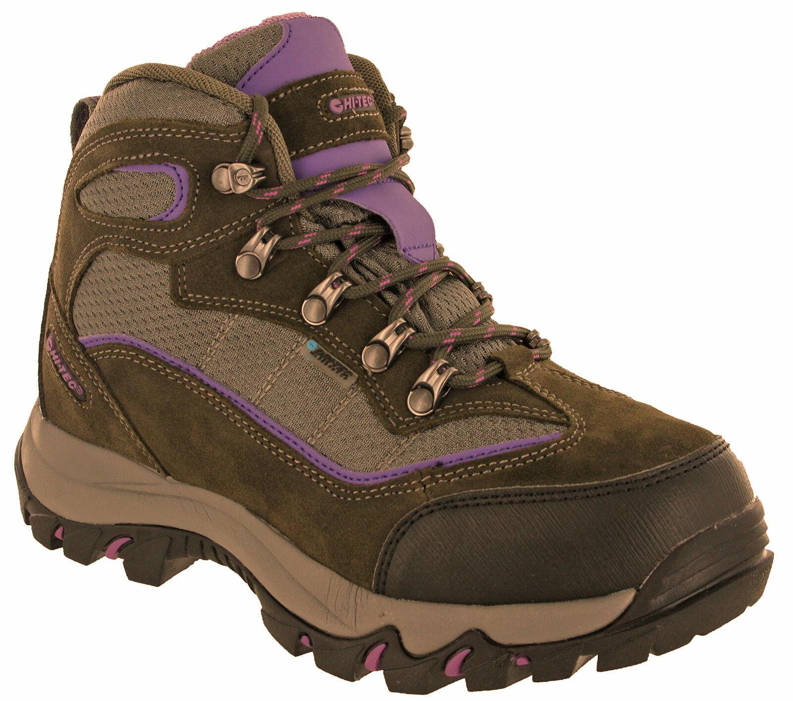 Hi-Tec Womens Walking Boots Waterproof Skamania Leather Hiking Trail Lace