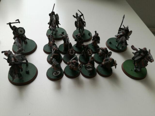 12 Krieger von Rohan und 6 Reiter, HdR Herr der Ringe Tabletop GW Games Workshop
