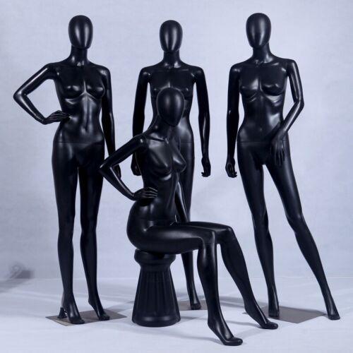 FC-4B Female Mannequin Abstract Black Matt Head Woman Doll