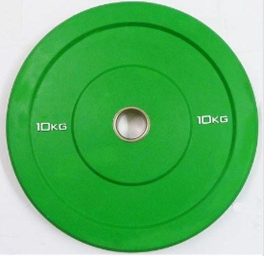 Ironuomo OLYMPIC 2  PARAURTI IN GOMMA PIENA PIASTRA 10kg-SOLLEVAMENTO PESI A DISCO
