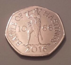 Very-Rare-50p-coin-Battle-of-Hastings-2016
