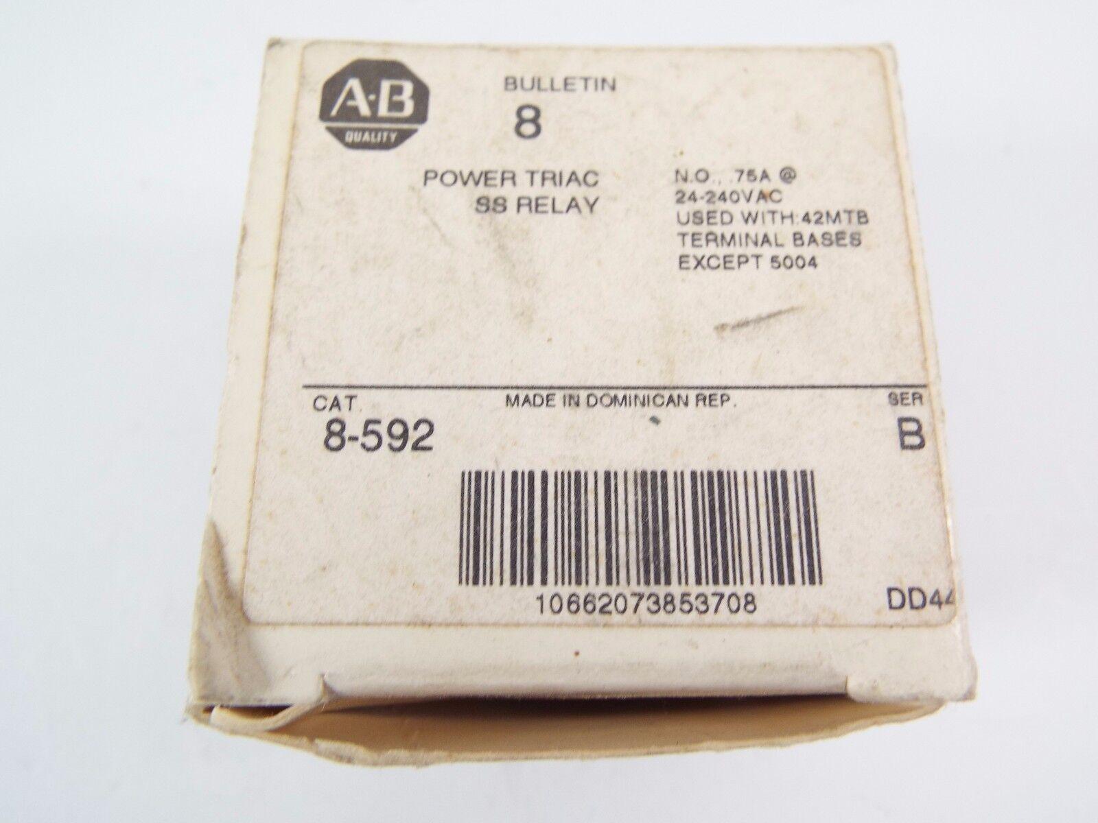 10289 Allen Bradley 8 592 Relay Triac 24 240 Vac Ebay Solid State Stock Photo
