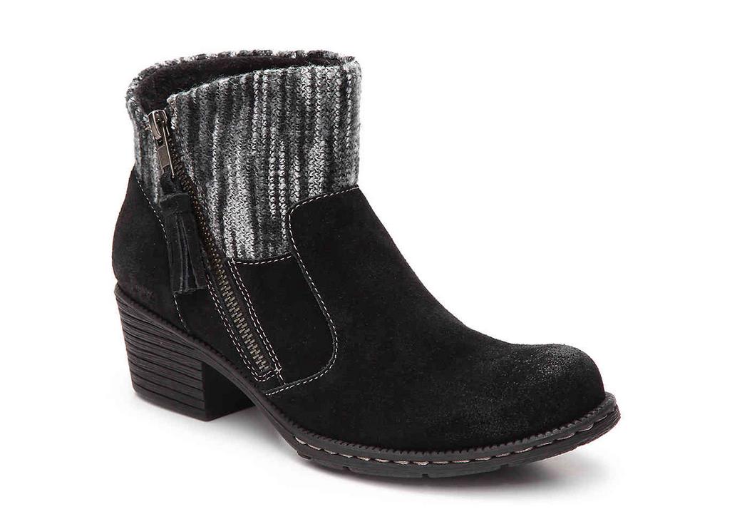 Recién nacido B.O.C Negro botas botas botas al tobillo Botines Charon para mujer 8.5 Gamuza  venderse como panqueques