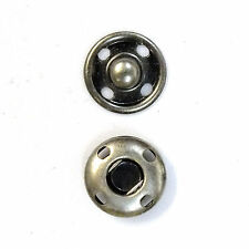 New Sew-On Snaps Fasteners Size:12mm 144 sets package, Color: Antique Nickel