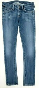 Citizens-Of-Humanity-Womens-Jeans-Size-25-Racer-Skinny-Stretch-Low-Rise-Blue