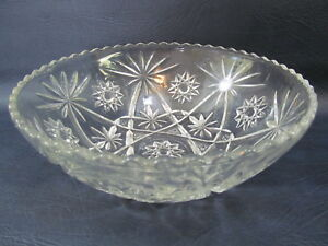 Anchor-Hocking-Star-of-David-EAPC-Prescut-Glass-Large-10-3-4-034-Bowl