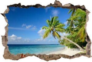 Wandtattoo Palmen Meer Strand Beach Karibik 3d Sticker Aufkleber 130cm Xxl 63ar Ebay