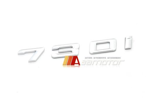 BMW F01 F02 7-Series 730i 730 i Rear Trunk Lid Chrome 3D Emblem Badge Letters