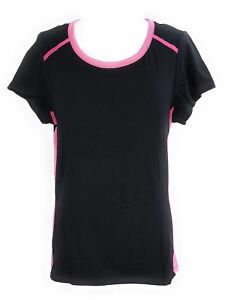 Women-039-s-Plus-Size-Black-Pink-Cotton-Spandex-Stretch-Active-Tee-Top-1X-2X-3X-NWT