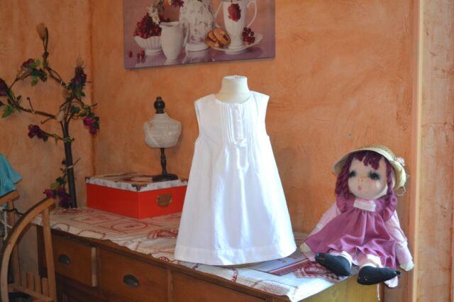 robe cyrillus 2 ans haut  doublee blanche 55% DE LIN TRES BELLE