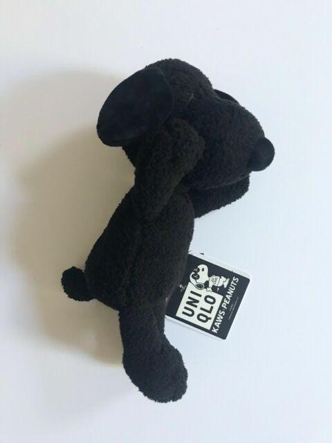 Uniqlo Kaws x Peanuts Black Snoopy Plush Toy Small Joe Worldwide