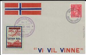 Poland-Postmark-amp-Cachets-Polish-Field-Post-Office-Nr-1-1942