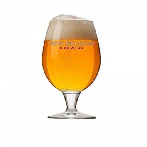 16oz Belgian Beer Glass 2-Pack Clear Details about  /New Belgium Brewing Co