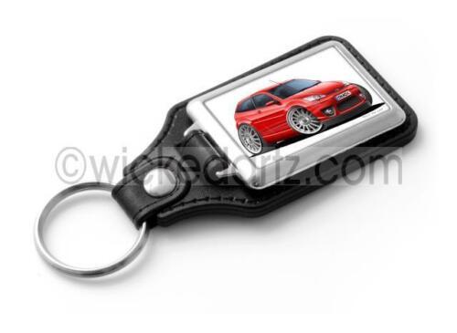 WickedKarz Cartoon Car Ford Focus MK1 ST170 in Red Stylish Key Ring